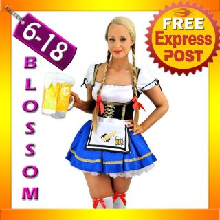 Beer Maid Wench German Heidi Oktoberfest Gretchen Costume Outfit
