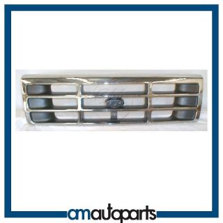 Bronco F150 F350 F250 Pickup Truck Chrome & Silver Front Grille Grill