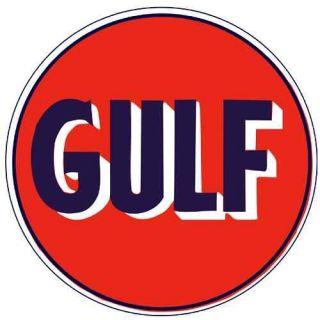 GULF Oil Gasoline Vinyl Sticker Decal 14 (vintage)