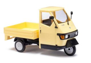 Busch 1/43 Piaggio Ape 50 Pickup Truck Yellow 60003 New