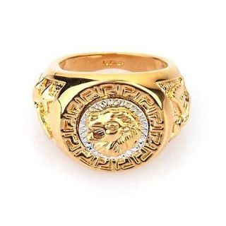 gold lion ring in Jewelry & Watches