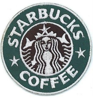 STARBUCKS COFFEE PATCH STARBUCKS LOGO IRON ON SEW ON