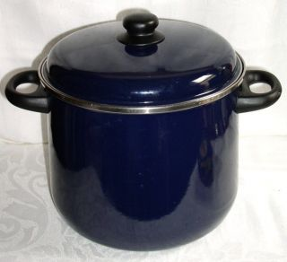 Megaware Spain   Blue Enamelware 9qt Covered Stock Pot