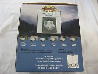 Humphrey Indoor Propane Gas Light Pebble Gray 9PG Made in USA