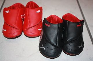 Ferrari Drift Cat III 3 Leather Crib Baby Infant Shoes Black Or Red