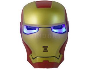 Halloween Ghost Cosplay Iron Man Style Mask LED Light Movie Guy