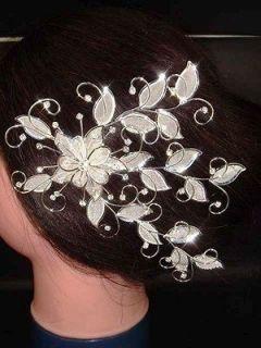 Bridal Rhinestone Crystal Headpiece headdress Hair tiara Comb RB176