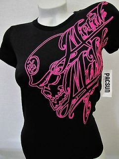 Metal Mulisha Womens Motocross Graphic Tee Shirt Black Size Medium NWT