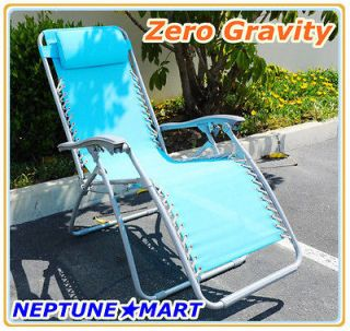 Zero Gravity Folding lounge Chair leisure recliner Blue