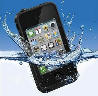 Waterproof iphone 4 4S Case life shock proof Black. New in Box. FREE