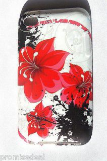 iPod Touch 4 Silicone Case COVER  Canada Seller!FLOWER
