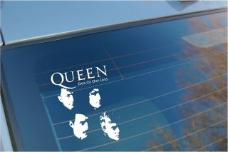 Queen Freddie Mercury car window sticker/ heavy Metal Hard rock Band