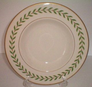 SYRACUSE CHINA 2 RIMMED SOUP BOWL CEREAL NEW GREENWOOD DISC OLD IVORY