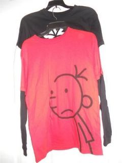 Diary Of A Wimpy Kid Boys Red or Black L/S t shirt Sizes Small Medium