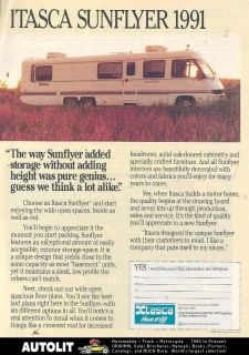 1991 Winnebago Itasca Sunflyer Motorhome RV Ad