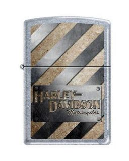 Zippo Harley Davidson Metal Stripes Lighter, Street Chrome, Low Ship