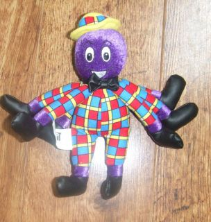 The Wiggles Henry The Octopus 6 Beanie Plush Figure 2003