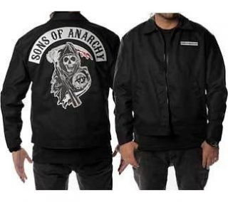 OF ANARCHY Mechanic Jacket Embroidered Patches NEW SOA Licensed Colors