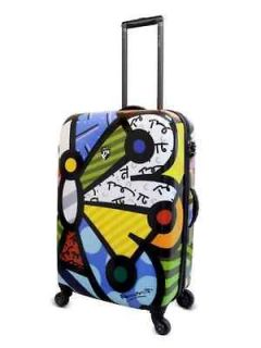 Romero Britto Butterfly Luggage Heys 20 Spinner New W Tags
