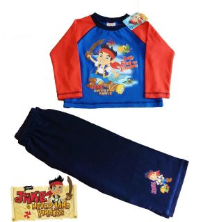 Disney Jake and The Neverland Pirates Long Pyjamas 1 2 3 4 Years