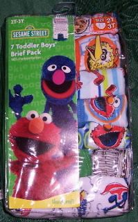 Elmo Cookie Monster Oscar the Grouch Big Bird Sesame Street Brief