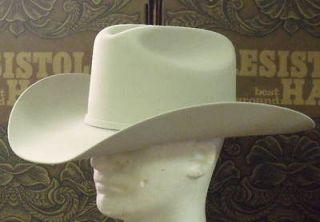 RESISTOL 20X BEAVER FELT TARRANT SILVERBELLY COWBOY WESTERN HAT