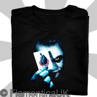 9131 JOKER CARD T SHIRT begins BATMAN dark knight HEATH LEDGER movie