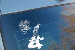 Queen   Freddie Mercury car window sticker/ rock Band