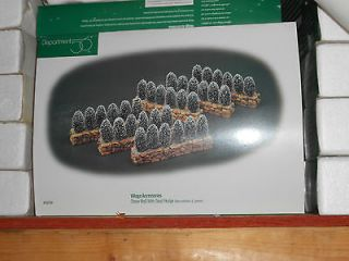 DEPT 56 GENERAL VILLAGE ACCESSORIES STONE WALL WITH SISAL HEDGE NIB