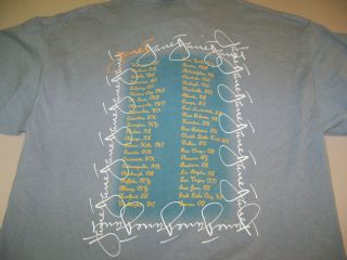 JANET JACKSON Concert TOUR T Shirt L M& O KNITS HEAVYWEIGHT
