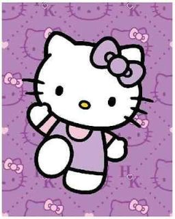 Hello Kitty Expressions Queen Size Plush Blanket 76x 94