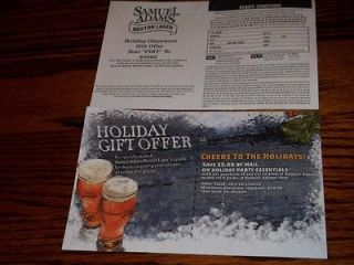 Samuel Adams $5.00 Holiday Party Essentials Rebate NBPR
