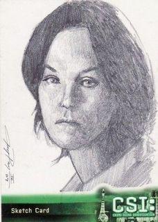 CSI Las Vegas Jay Pangan III / Sara Sidle Sketch Card