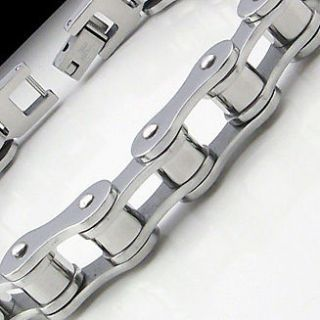 COOL MOTORCYCLE BIKE CHAIN Stainless Steel Link Bracelet 8.25 NEW