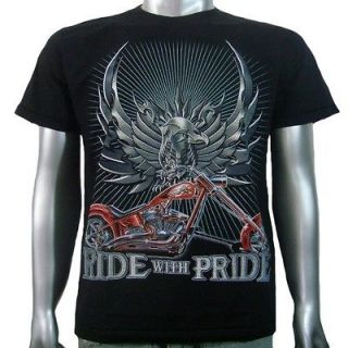 Eagle Animal Chopper American Motor Cycle Biker Men Boys T Shirt M