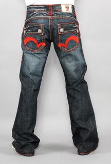 New Mens Laguna Beach Jeans Salt Creek Red Stitch Bootcut 29