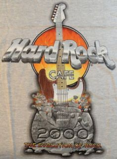 Hard Rock Cafe LONDON 2000 MILLENNIUM Tee SHIRT Medium   GREY