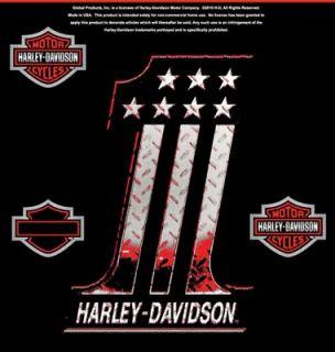 HARLEY DAVIDSON DIAMOND PLATE NUMBER 1 DECAL