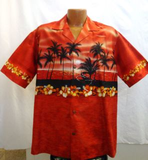 red hawaiian shirt in Casual Shirts