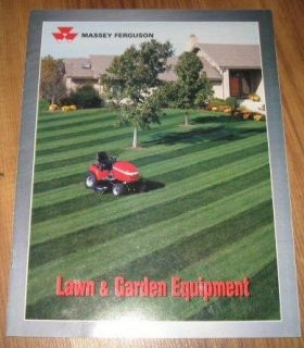 Massey Ferguson Massey Ferguson Lawn & Garden Equipment Sales Brochure