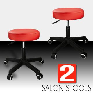 White Hydraulic Stool Chair Facial Salon Tattoo Beauty Mobile Salon PU