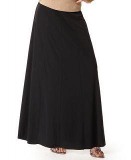 INC NEW Black Elastic Waist Long Full Length A Line Swing Maxi Skirt M