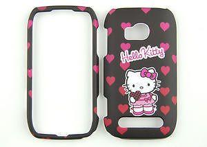 Hello Kitty Black Phone Case Cover Skin For T Mobile Nokia Lumia 710