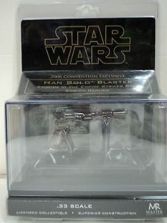 Star Wars 2006 Convention Exclusive Han Solo Blaster Scaled Replica