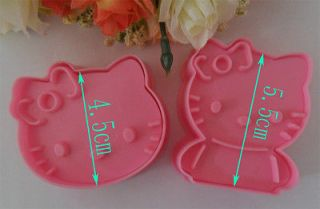 2PCS Hello Kitty mold baking cakes candy Almighty flowers forming die