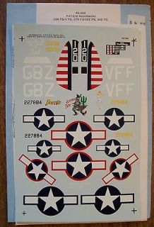 SUPERSCALE DECALS 1/48 P 47C/P 47D THUNDERBOLT RAZORBACKS #48 368 MY