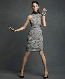Karl Lagerfeld for Impulse High Neck Sleeveless Tweed Dress Size 6 8