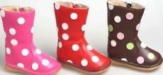 Squeaky Boots Shoes Polka Dots or Zebra Print Toddler Girls Size 4 8