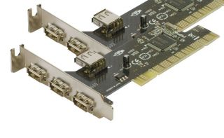 Low Profile USB (3+1) PCI Card 3 External and 1 Internal SHARED ports