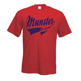 Munster Ireland Irish Vintage Style Rugby T Shirt